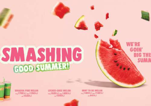 Smashing Good Summer Watermelon range at Boost Juice!